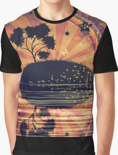 Lonely Tree at Sunset Graphic T-Shirt