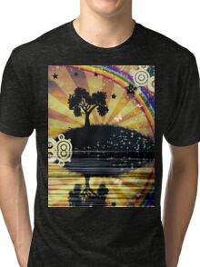 Lonely Tree at Sunset Tri-blend T-Shirt
