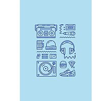 Hiphop Flat Design Print Photographic Print