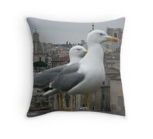 See gulls in Rome! Throw Pillow