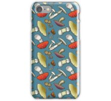 Mushroom Mayhem - Blue iPhone Case/Skin