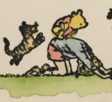Leap Frog with Christopher Robin Sticker