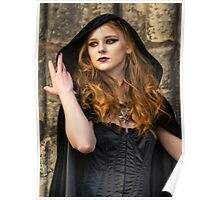 Hooded Goth Bride  Poster
