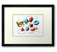 "Comment dit ""Hamburger"" en Anglais? Framed Print"
