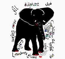 Black Elephant with Red Toenails Unisex T-Shirt