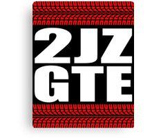 2JZ GTE tread sticker Canvas Print