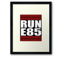 RUN E85 sticker Framed Print