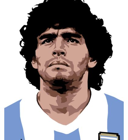 Maradona - best soccer player Sticker