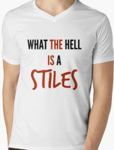 teen wolf - what the hell is a stiles? Mens V-Neck T-Shirt