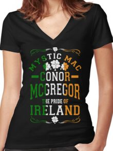 Conor Mcgregor, Mystic Mac Women's Fitted V-Neck T-Shirt