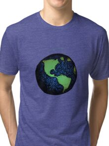Sketched Earth Tri-blend T-Shirt