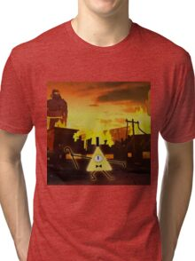 Bill Cipher Gravity Falls Weirdmageddon Tri-blend T-Shirt