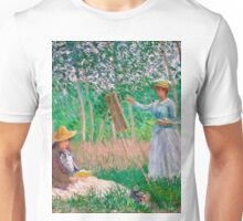 1887-Claude Monet-In the Woods at Giverny-91x97 Unisex T-Shirt