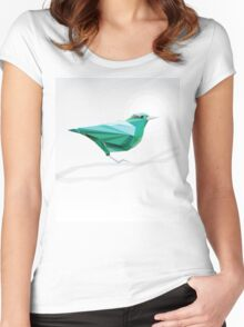 Turquoise Bird  Women's Fitted Scoop T-Shirt