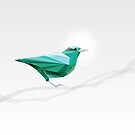 Turquoise Bird  by Diana Hlevnjak