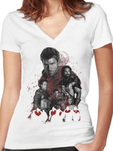 Spartacus and his rebel leaders Women's Fitted V-Neck T-Shirt