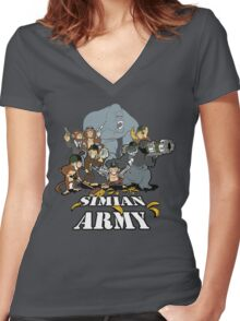 Simian Army! Women's Fitted V-Neck T-Shirt