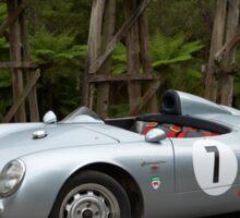 Silver Porsche Spyder Replica Sticker