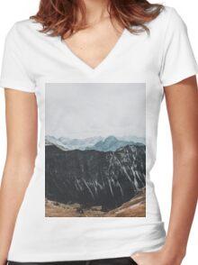 Interstellar landscape photography Women's Fitted V-Neck T-Shirt