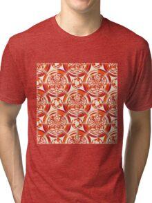 Dark orange pattern Tri-blend T-Shirt