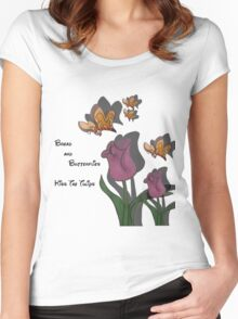kiss the tulips Women's Fitted Scoop T-Shirt