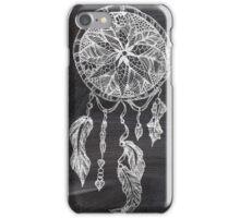 Ethnic handdrawn dreamcatcher black chalkboard iPhone Case/Skin