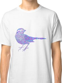 Pink and blue sparrow Classic T-Shirt