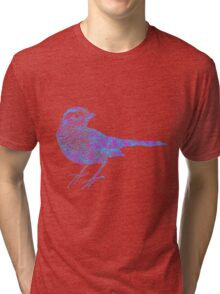Pink and blue sparrow Tri-blend T-Shirt