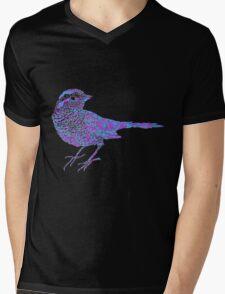 Pink and blue sparrow Mens V-Neck T-Shirt