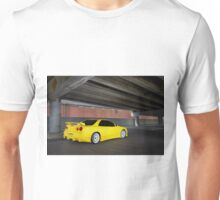 Yellow Nissan Skyline R34 Unisex T-Shirt
