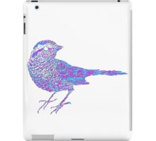 Pink and blue sparrow iPad Case/Skin