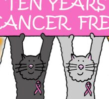 Congratulations 10 years cancer free Sticker