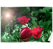 Surreal roses Poster