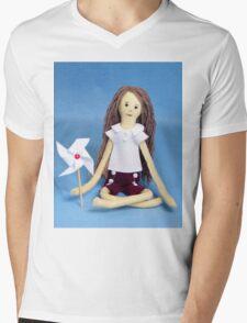 Celebrate Felt Doll Mens V-Neck T-Shirt