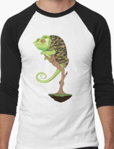 Full Metal Chameleon  Men's Baseball ¾ T-Shirt