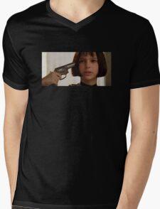 Mathilda the Professional Mens V-Neck T-Shirt