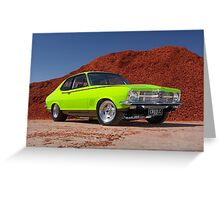 Green Holden LC Torana Greeting Card