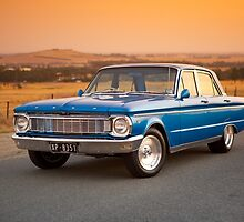 Blue Ford XP at Sunset by John Jovic