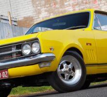 Yellow Holden HK Monaro Sticker