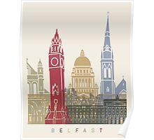 Belfast skyline poster Poster