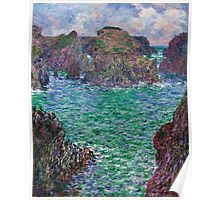 1887-Claude Monet-Port-Goulphar, Belle-Île-91 x 107 Poster