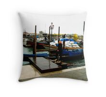 Beautiful venice taxi in old style. Throw Pillow