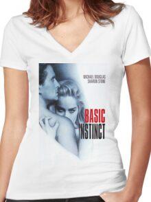 Basic Instinct Women's Fitted V-Neck T-Shirt