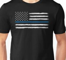 Blue Line - Traditional (White) Unisex T-Shirt