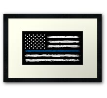 Blue Line - Traditional (White) Framed Print