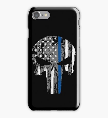 Punisher - Blue Line iPhone Case/Skin