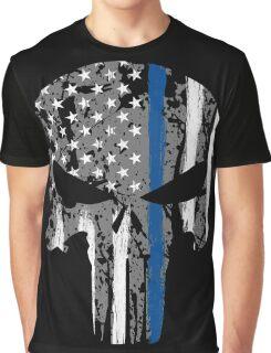 Punisher - Blue Line Graphic T-Shirt