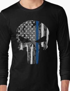Punisher - Blue Line Long Sleeve T-Shirt