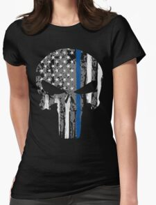 Punisher - Blue Line Womens Fitted T-Shirt