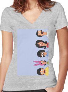 Belcher family Women's Fitted V-Neck T-Shirt